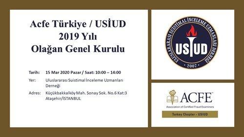 Acfe Türkiye/USİUD 2019 yılı Olağan Genel Kurulu