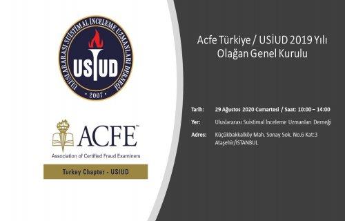 Acfe Türkiye-USİUD 2019 Yılı Olağan Genel Kurulu