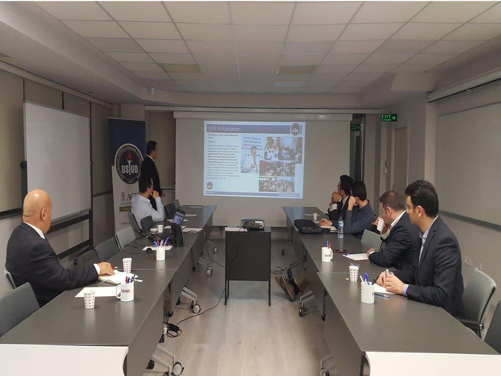 Yeni Ofisimizde Eğitim Komite toplantısı düzenledik.