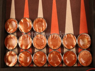 Chrome Rimmed Fingerdish Backgammon Checkers