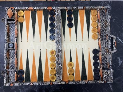 Tournament Size Python Backgammon Board