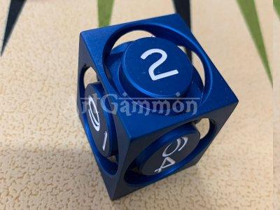 40mm Metal Cube Blue