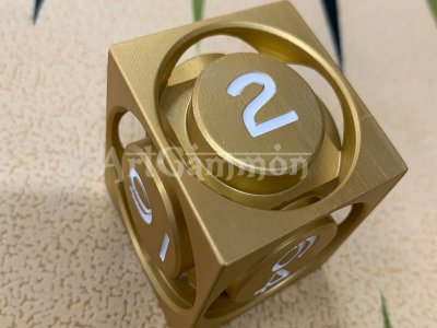 40mm Metal Cube Gold