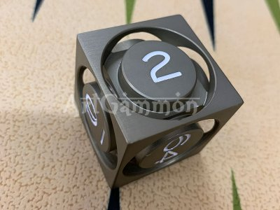 40mm Metal Cube Green