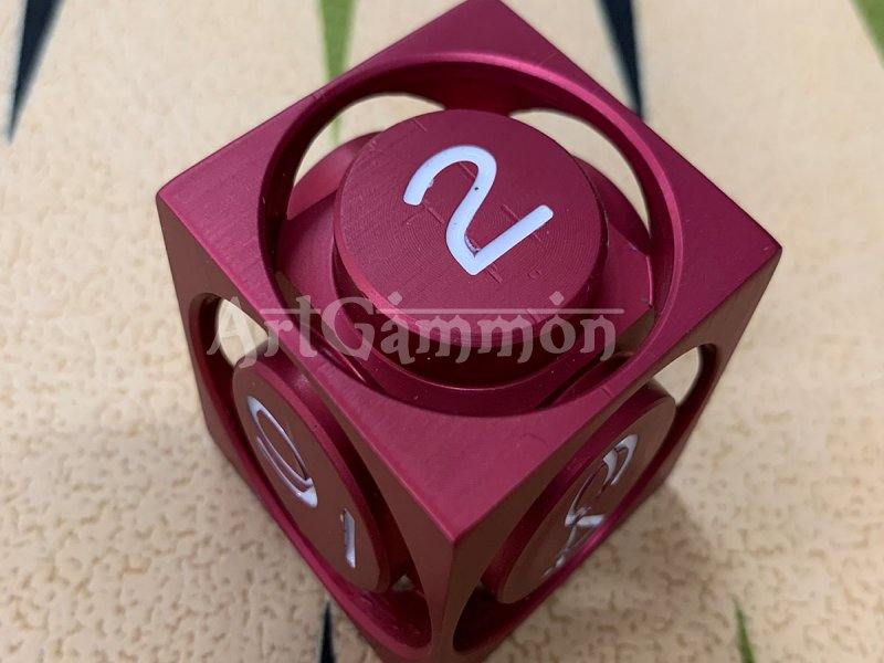 40mm Metal Cube Red