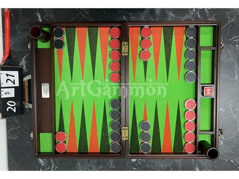 Tournament Size Beech Wood Mahogany Color